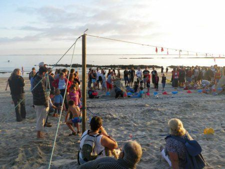 Beach volley - plage de Kervillen