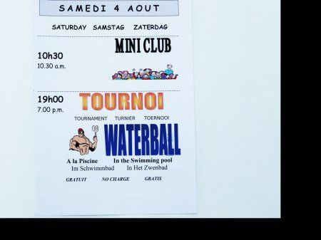 Animations mini club et waterball