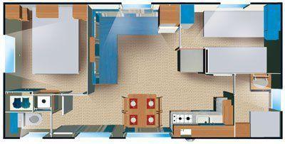Plan du mobil-home Loft 6 personnes